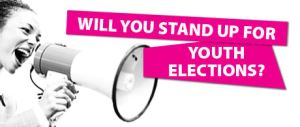 Poster Stand Up for Youth Elections