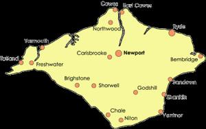 Map Of The Isle Of Wight Isle of Wight Facts and Figures   Service Details