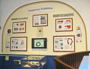 Temporary display at Cowes Maritime Museum
