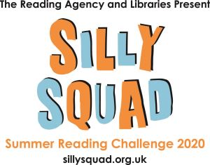 Children with books for Summer Reading Challenge