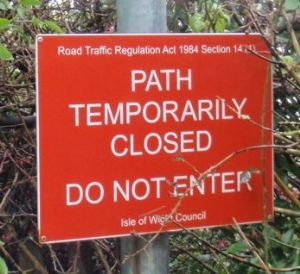 Public Rights of Way Path Temporary Closure Notice