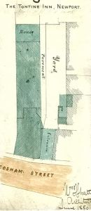 Plan of the Tontine Inn, Newport 1880