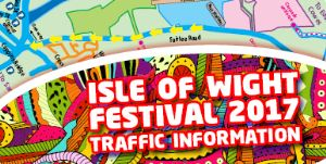 IOW Festival Traffic Information Graphic