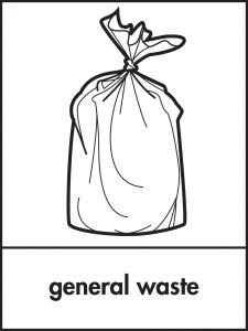 Graphic image of a general waste bag