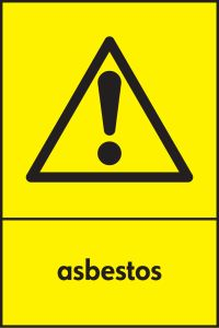 Graphic Hazardous Substance Sign for Asbestos