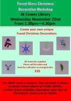 Fused Glass Christmas Decoration Workshop