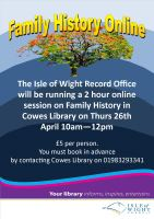 Family History Online at Cowes Library