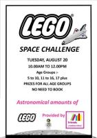 LEGO SPACE CHALLENGE AT SANDOWN LIBRARY