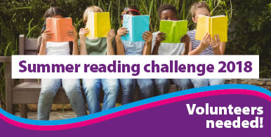 Summer Reading Challenge be a Volunteer