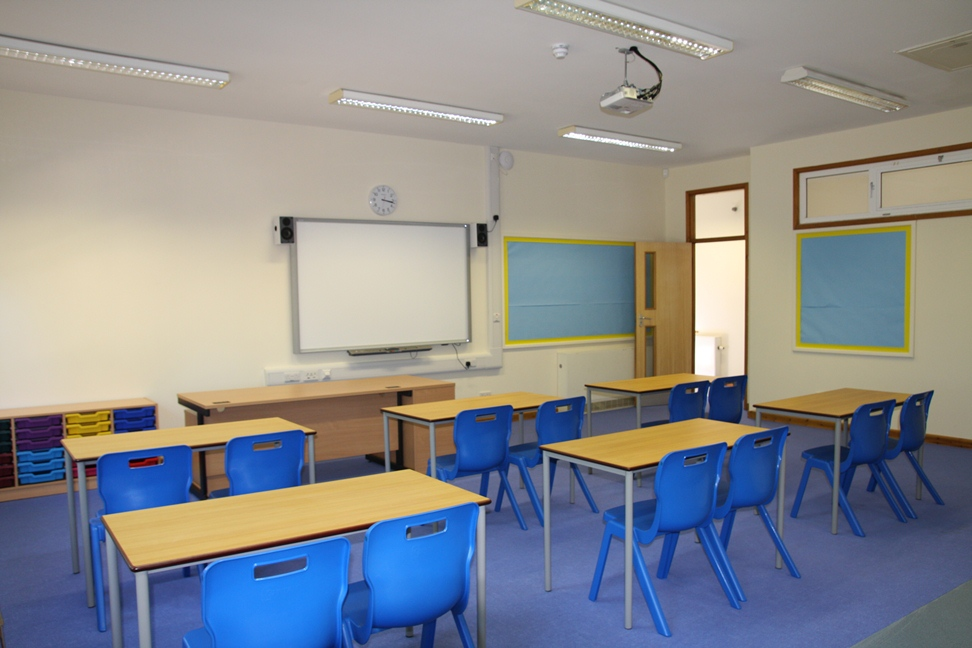 One of the classrooms at the new Island Learning Centre