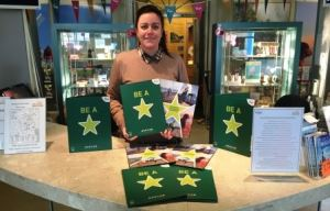 Zoe Stroud with some of the Travel Ambassedor Green Star Scheme resources