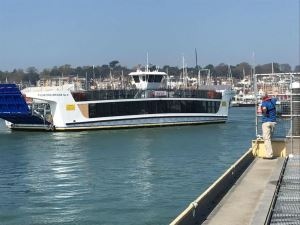 The Cowes floating bridge enters final commissioning stage