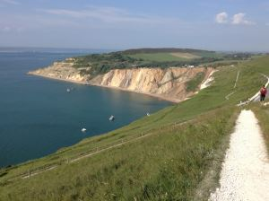 Alum Bay Cliffs within the Isle of Wight Area of Outstanding Natural Beauty