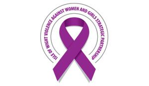 The purple ribbon signifies support for victims of domestic abuse