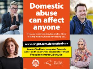 The campaign highlights how domestic abuse can affect anyone