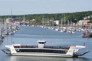 The floating bridge is running an extended service during Cowes Week 2019