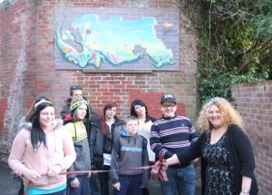 Clatterford students at another of their street art projects
