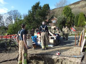 Helping residents living along Undercliff Drive