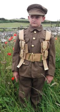 There will be a chance to see a First World War army uniform, here worn by a guest at a previous event on the Island