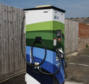 The charging point has been installed but will be ready for use from October.