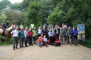 Numerous users were at the official opening of the newly resurfaced path