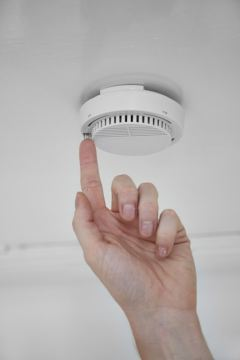 Take only a few seconds to test your smoke alarms when you put your clocks back this weekend.