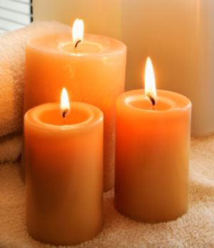 Naked candle flames can be a hazard if costumes are not fire retardent.