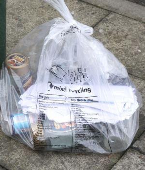 Residents should contact the council to request a new supply for clear sacks when they are running low.