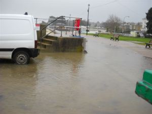 Flooding at Ryde Esplanade