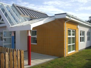 The Bay Children's Centre in Sandown is one of the buildings that will close for a period as part of the transition.