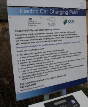 A number of electric vehicle charge points are now available in council car parks across the Island.