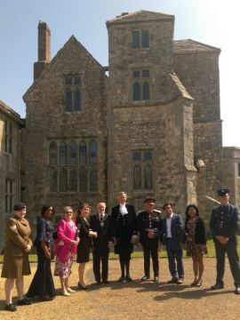 The ceremony took place at Carisbrooke Castle