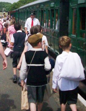 Children will board the train and wave goodbye as part of the experience