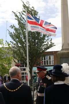A flag will be raised in St Thomas' Square during the ceremony
