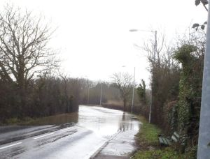 Flooding at Morton Common Road in 2013