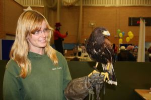 The Fun Day was moved indoors due to the rain, but that didn't stop organisations such as Wight Falconry taking part