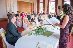 The ceremony was held at Northwood House
