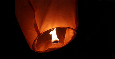 Fire service issues lantern warning