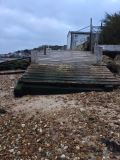 The privately installed wooden structure at the end of Shore Path, Gurnard