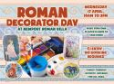 Decorate your own plaster plaque at Newport Roman Villa this Easter